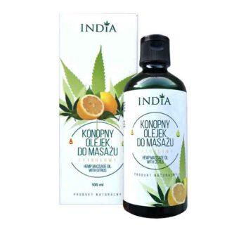 Масажно масло с коноп Индия Козметикс India Cosmetics citrus
