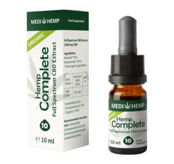 Конопено масло с пълен спектър (Био коноп къмплийт от Медихемп) - 10% CBD