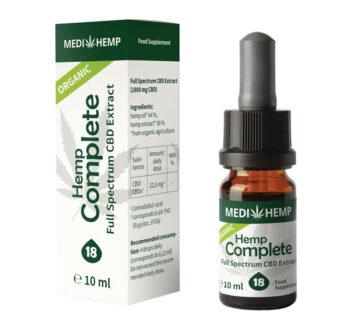 Конопено масло с пълен спектър (Био коноп къмплийт от Медихемп) - 18% CBD