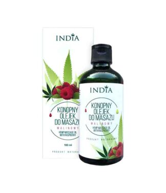 Hemp massage oil - raspberry - 100ml
