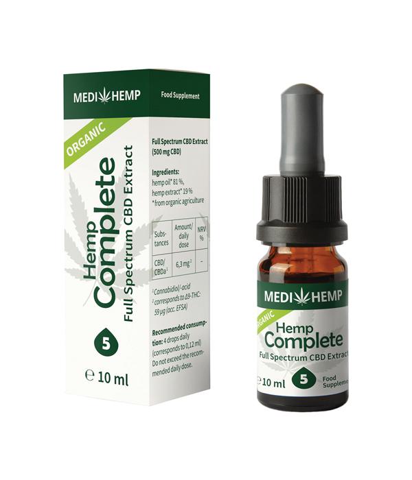 Конопено масло с пълен спектър - 5% CBD от Медихемп