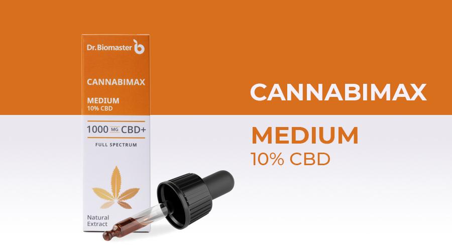 Конопено масло Cannabimax Medium - 10% CBD