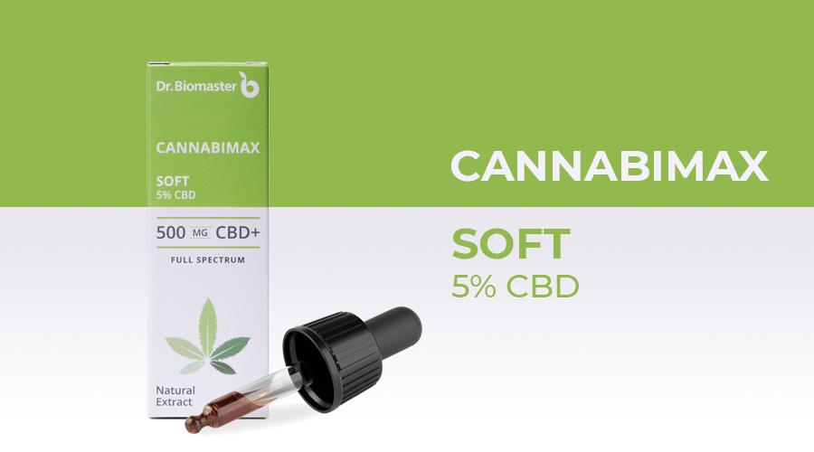 CBD конопено масло Софт Cannabimax soft - 5% CBD