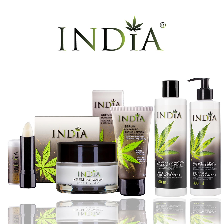 Конопена козметика от India cosmetics