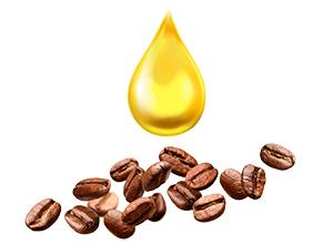 Зърна кафе смесени с CBD