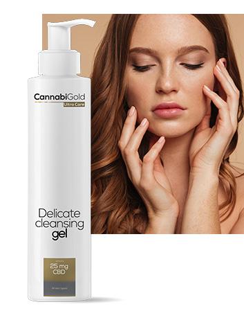 Измиващ гел за лице канабиголд 25 mg CBD