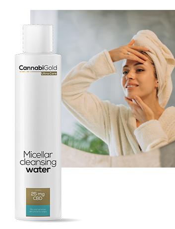 Мицеларна вода за чувствителна кожа канабиголд 25 mg CBD
