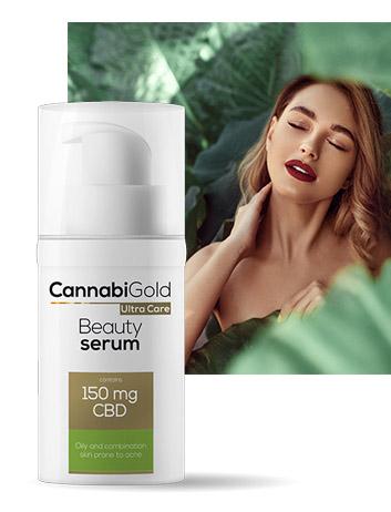 Озаряващ серум за мазна кожа Cannabigold 150 mg CBD