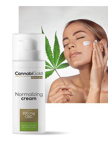 Хидратиращ крем за мазна кожа 100 mg CBD