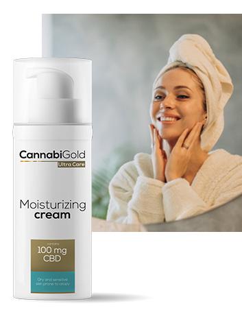 Хидратиращ крем за суха кожа 100 mg CBD