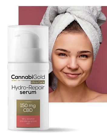 Хидратиращ серум за чувствителна кожа алергии 150 mg CBD