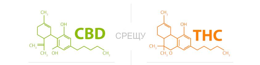 CBD срещу THC